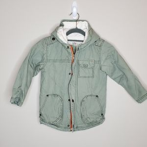 Old Navy Barn Chore Coat Sherpa Lined Hooded 5T